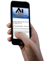 A1 Communications Mobile Website Design